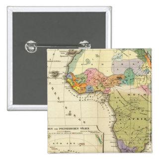 Mapa etnográfico de África Pins