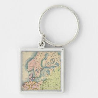 Mapa etnográfico de Europa Llavero Personalizado