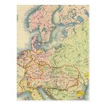 Mapa etnográfico de Europa Tarjetas Postales