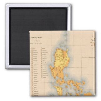 Mapa etnográfico ningunos 3 imán cuadrado