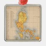 Mapa etnográfico ningunos 3 ornamente de reyes
