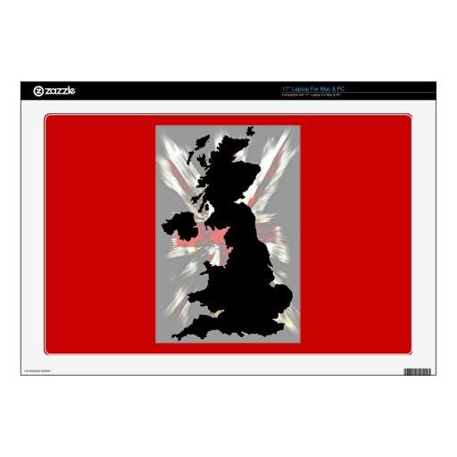Mapa Europa Reino Unido Escocia Irlanda Inglaterra Calcomanía Para Portátil