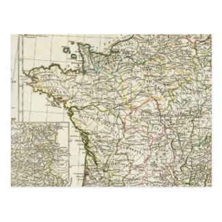 Mapa europeo antiguo tarjetas postales