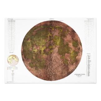 Mapa físico de 1961 U S G S de la luna Comunicados Personales