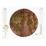Mapa físico de 1961 U.S.G.S. de la luna Postal