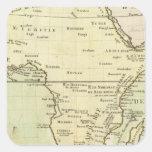Mapa físico de África Pegatina Cuadrada