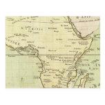 Mapa físico de África Postal