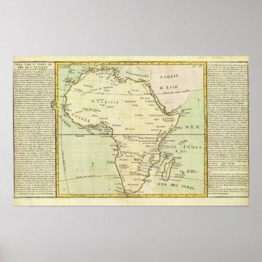Mapa físico de África Posters