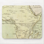 Mapa físico de África Tapete De Ratones