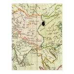 Mapa físico de Asia Tarjeta Postal