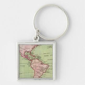 Mapa físico de las Américas Llavero