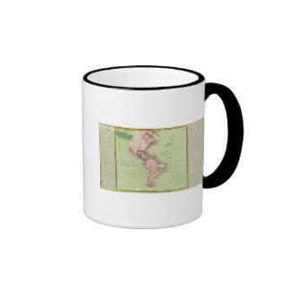 Mapa físico de las Américas Tazas De Café