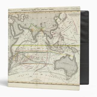 Mapa físico de los mares indios