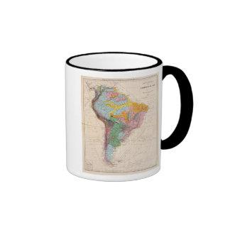 Mapa físico de Suramérica Tazas De Café