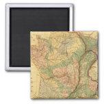Mapa físico y mineralógico de Francia Imán Cuadrado