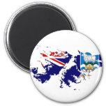 Mapa FK de la bandera de Islas Malvinas (Malvinas) Imán De Frigorífico