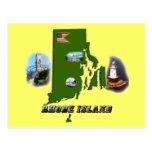 Mapa, fotos y texto de Rhode Island Tarjetas Postales