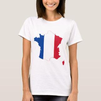 Mapa franco de la bandera de Francia Playera