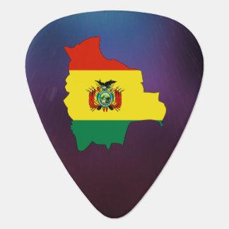 Mapa fresco de la bandera de Bolivia Plumilla De Guitarra
