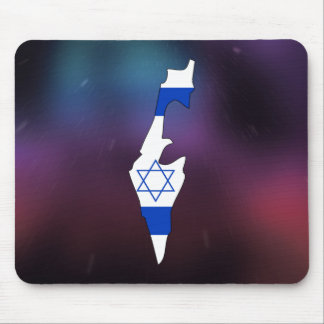 Mapa fresco de la bandera de Israel Tapetes De Raton