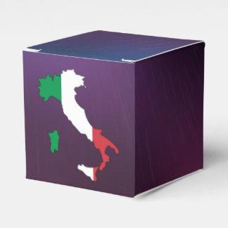 Mapa fresco de la bandera de Italia Cajas Para Regalos De Fiestas