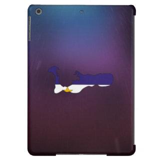 Mapa fresco de la bandera de las Islas Caimán Funda Para iPad Air