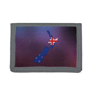 Mapa fresco de la bandera de Nueva Zelanda