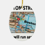 Mapa fuerte de Boston Ornaments Para Arbol De Navidad