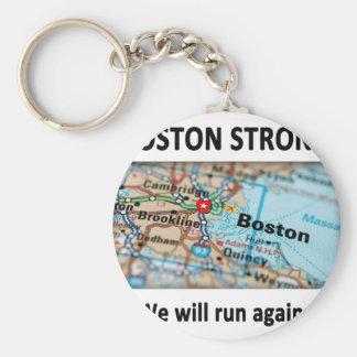 Mapa fuerte de Boston Llavero Redondo Tipo Pin