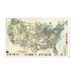 Mapa general 1918 del AAA de rutas transcontinenta Impresiones De Lienzo