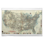 Mapa general 1918 del AAA de rutas transcontinenta Manteles
