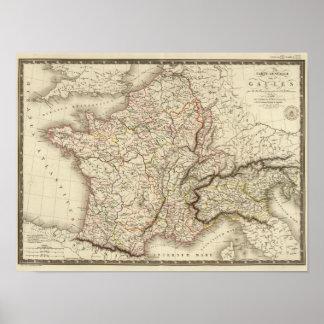 Mapa general de Galia Posters