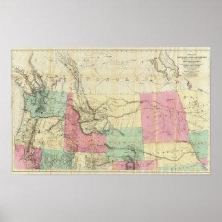 Mapa general de los estados de North Pacific Poster