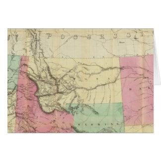 Mapa general de los estados de North Pacific Tarjeta