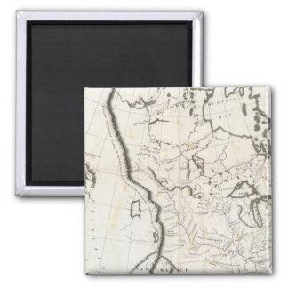 Mapa general de Norteamérica Imán Cuadrado