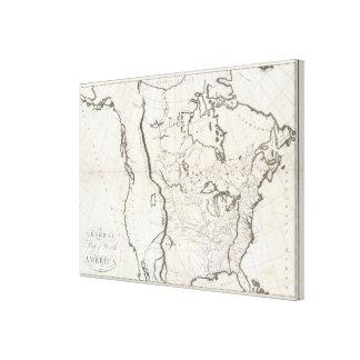 Mapa general de Norteamérica Impresion De Lienzo