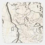 Mapa general de Norteamérica Calcomania Cuadradas Personalizadas