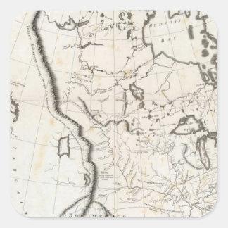 Mapa general de Norteamérica Pegatina Cuadrada