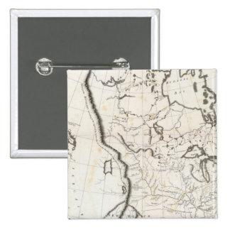 Mapa general de Norteamérica Pin Cuadrado