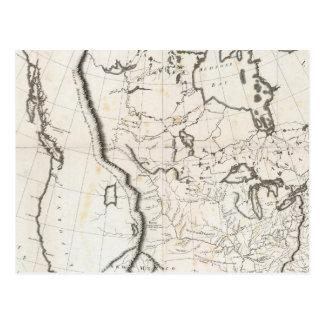 Mapa general de Norteamérica Postales