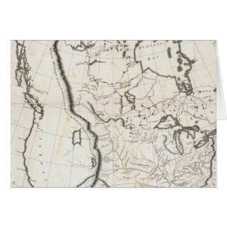 Mapa general de Norteamérica Tarjeta De Felicitación