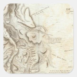 Mapa general del Reino de nueva España Pegatina Cuadrada
