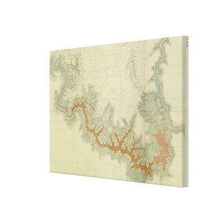 Mapa geológico compuesto de la meseta de Kaibab Impresiones En Lona Estiradas