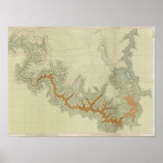Mapa geológico compuesto de la meseta de Kaibab Posters