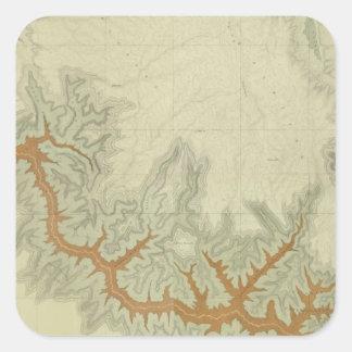 Mapa geológico compuesto de la meseta de Kaibab Pegatina Cuadrada