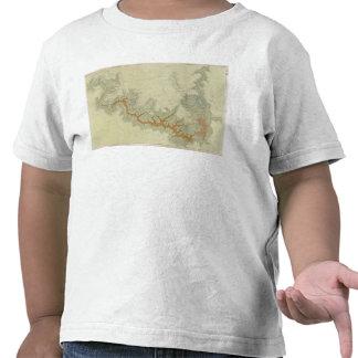 Mapa geológico compuesto de la meseta de Kaibab Camisetas