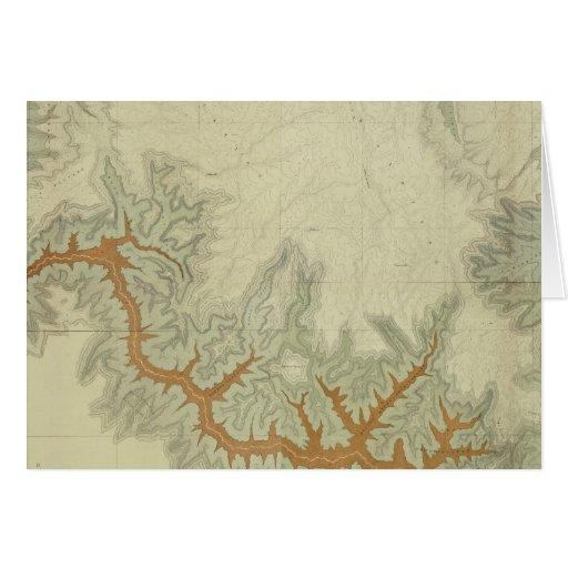 Mapa geológico compuesto de la meseta de Kaibab Tarjeta De Felicitación