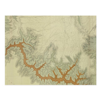Mapa geológico compuesto de la meseta de Kaibab Postal