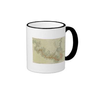 Mapa geológico compuesto de la meseta de Kaibab Tazas De Café