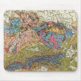Mapa geológico de Alemania Alfombrilla De Raton
